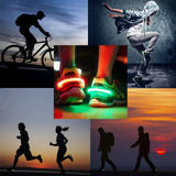 LED Luminous Lighting Shoe Clip Night Running Safety Sports Protect Warning Tool (Pink)