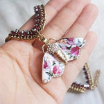 Anthropologie Necklace with Butterfly Pendant