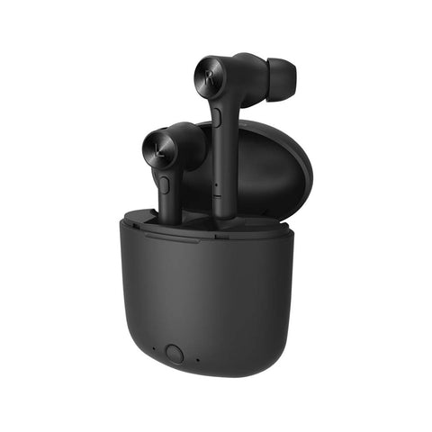 TWS Earbuds Bluetooth V5.0 Wireless Earbuds Sports Running Headset Built-in Mic,iPhone and Android compatible,, Matte Black