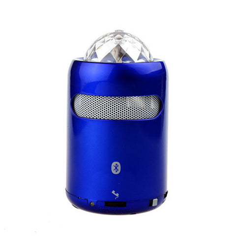 Portable Wireless Streaming Speaker with Party Lights, Blue