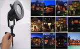 Outdoor LED Landscape Projection Light with 12 Slides for Christmas, Holidays and Festivals