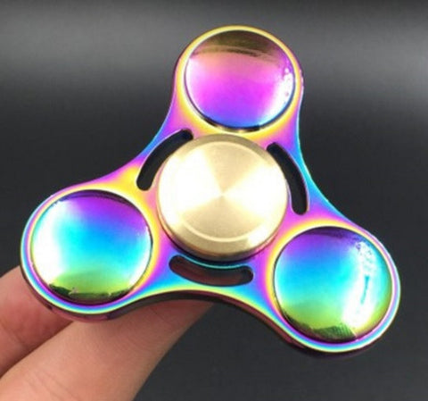 Rainbow Brass Hand Spinner Finger Fidget
