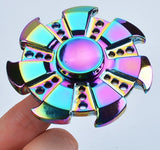 7 Leaf Rainbow Brass Hand Spinner Finger Fidget