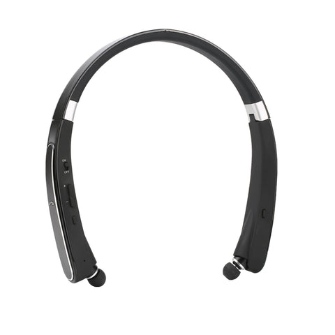 Retractable Foldable Bluetooth Neck Band Headset