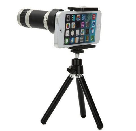 Smart Phone Camera Telescope Lens with Mount & Tripod