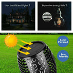 Solar Torch Outdoor Dancing Flickering Flame Light (2 Pack)