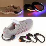 LED Luminous Lighting Shoe Clip Night Running Safety Sports Protect Warning Tool
