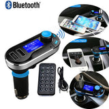 100 PC Bluetooth Wireless Car Kit FM Radio Transmitter USB Charger