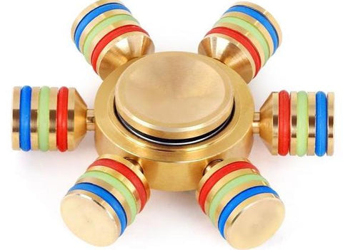 HEX Glowing Metal Fidget Torqbar Toy In Retail Pack