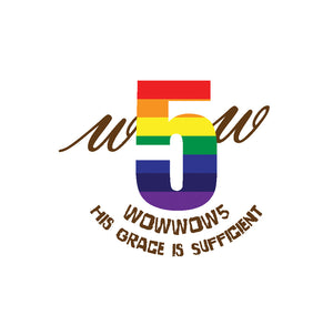 Our New Rainbow 5 Logo and Tagline - Go into the world. Fashionably.
