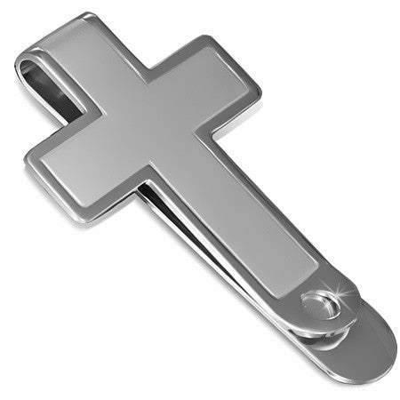 Stainless Steel Latin Cross Money Clip - CML066