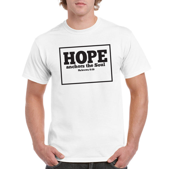 Hope Anchors the Soul - white Unisex Tshirt