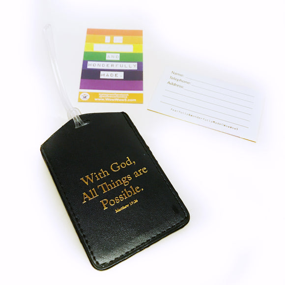 Luggage/ bag Tag - With God, All things are possible