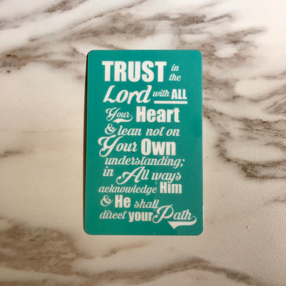 Ez-link card Sticker - Trust in the Lord with All Your Heart