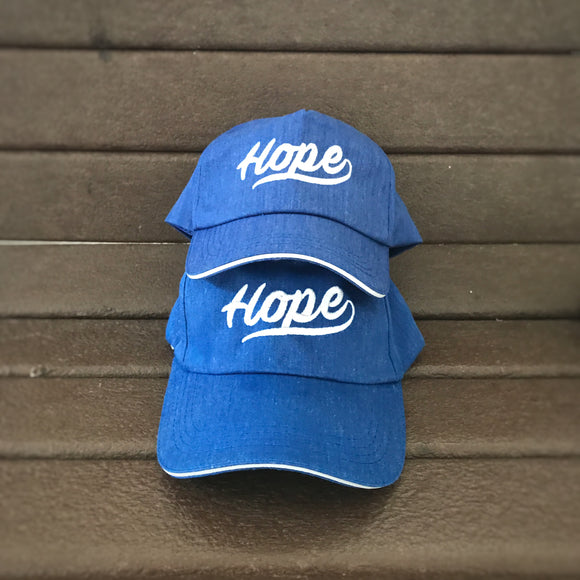 Hope denim Blue adult & kids Baseball 5P cap