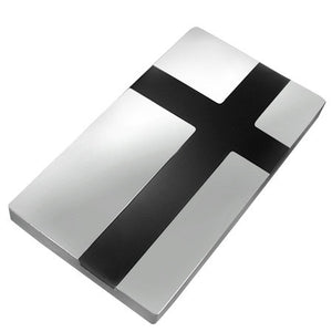 Stainless Steel 2-tone Latin Cross Money Clip - SCY079