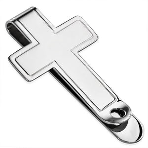 Stainless Steel Engravable Latin Cross Money Clip - XXD004