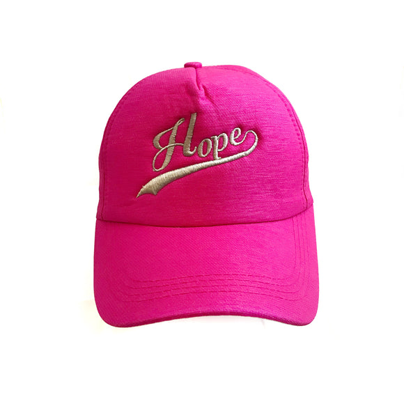 Hope pink baseball Cap