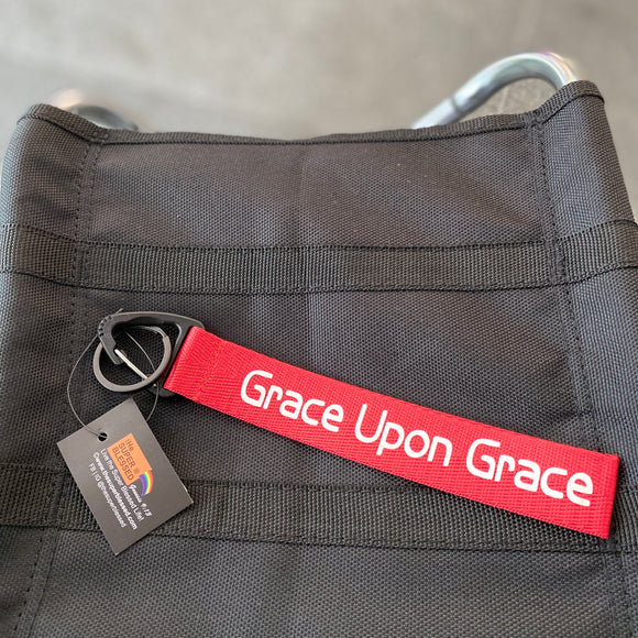 Grace Upon Grace Red Wrist strap keychain