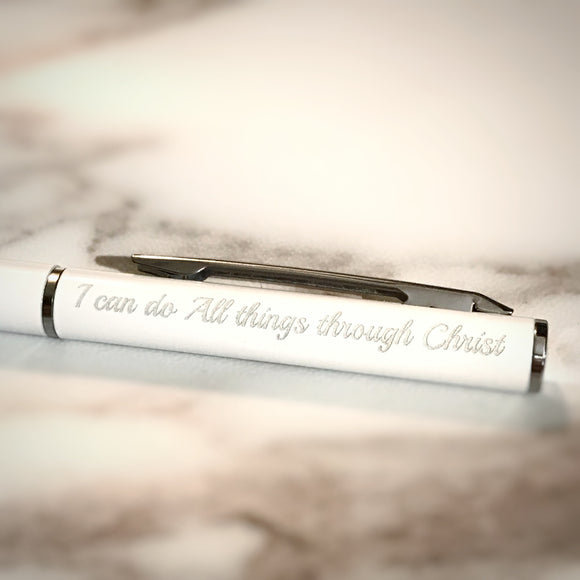 Verse Pen 690 White I Can do all things through Christ