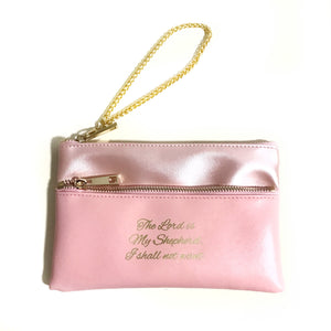The Lord is my Shepherd Wristlet with gold chain