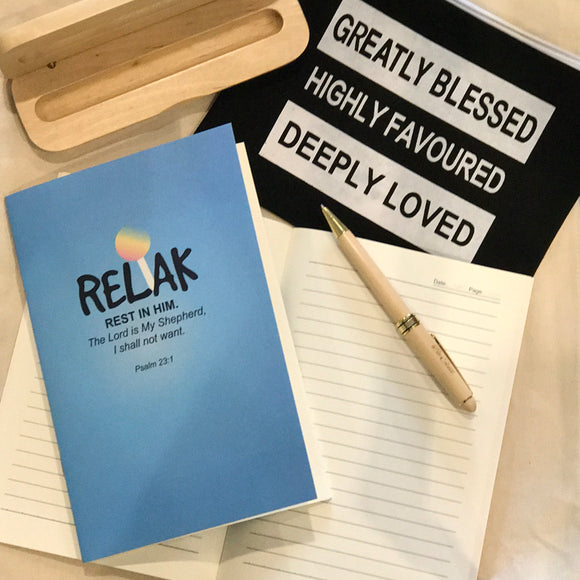 A5 Notebook -  Relak (I'm a Singaporean Christian series)