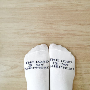 tHe Super Blessed Psalm 23 Ankle Socks