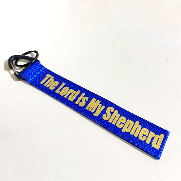 The Lord is My Shepherd Blue Wrist strap keychain