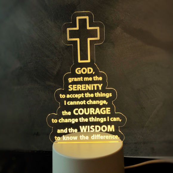 Serenity Prayer Acrylic night lamp