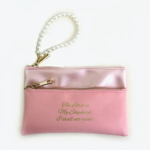 The Lord is my Shepherd Wristlet with pearls