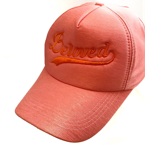 Beloved Peach color baseball Cap