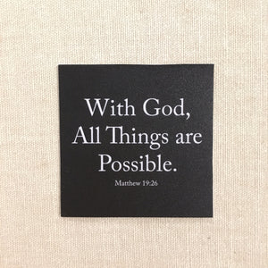 Sticker 54x54mm - With God All things are possible