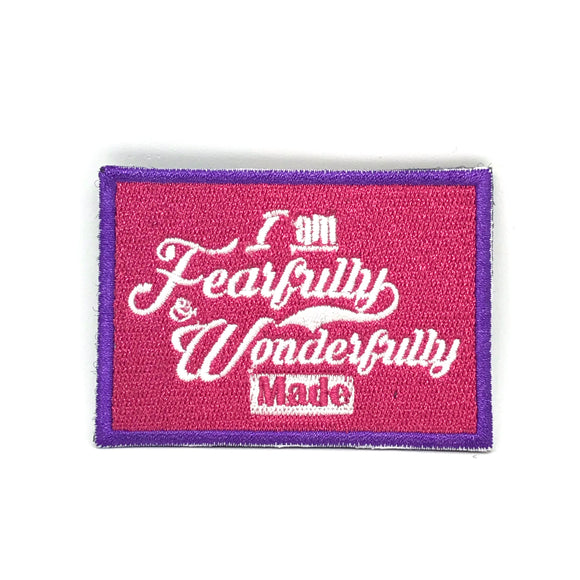 I am Fearfully & Wonderfully Made Verse-It Velcro Morale Patch