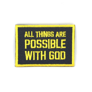 All things are Possible with God Verse-It Velcro Morale Patch
