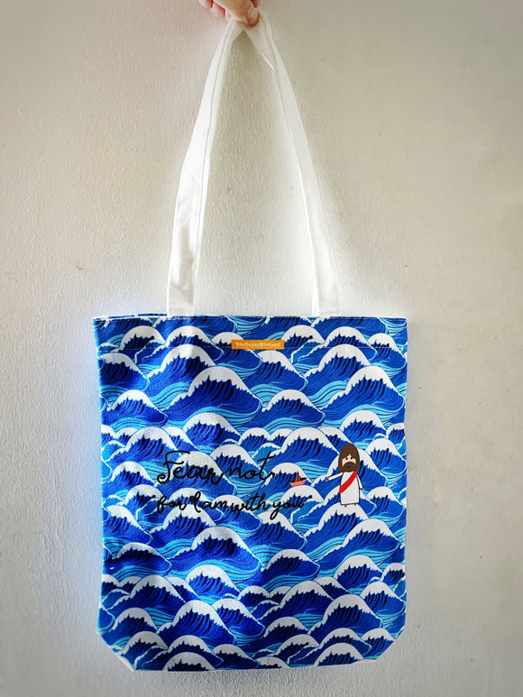 Fear Not - Blue waves Tote Bag