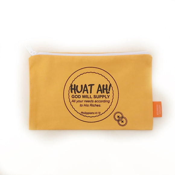 Huat ah! Pouch / pencil case 20x12cm