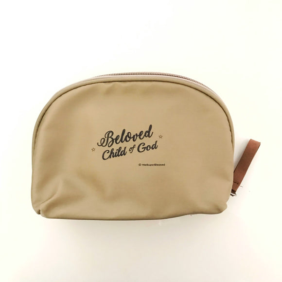 Make Up Pouch - Beloved Child of God champagne color