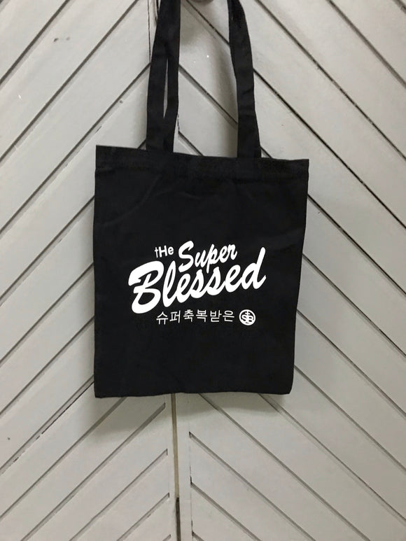 The Super Blessed Tote Bag In black