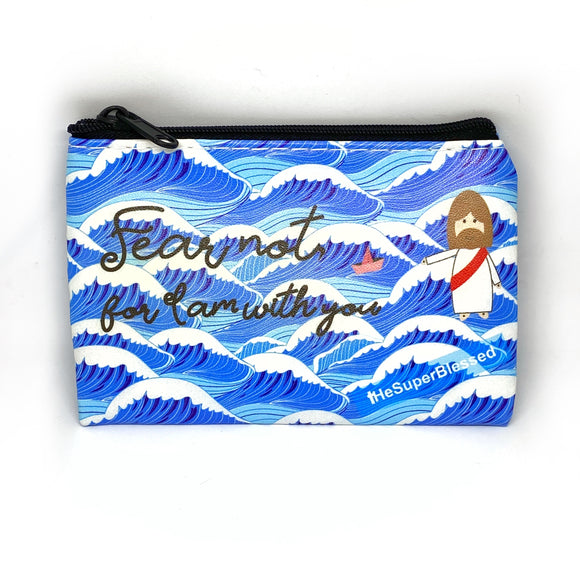 Fear Not Coin Pouch - Blue Waves