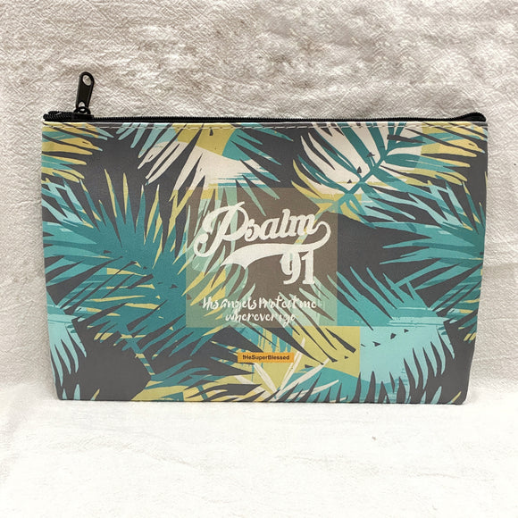 Psalm 91 Foliage Zipped Pouch / Pencil Case