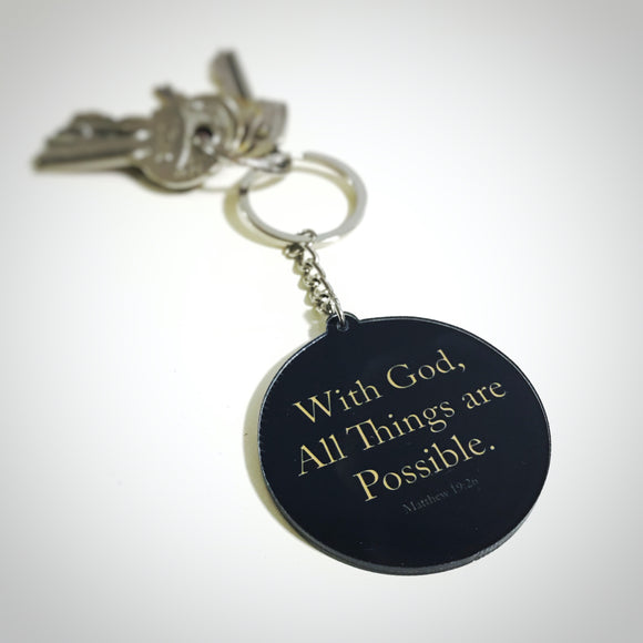 Keychain - With God, All Things are Possible