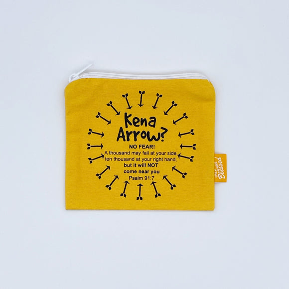 "Coin pouch 11x13cm Kena Arrow (""I'm a Singaporean Christian Lah!"" series)"