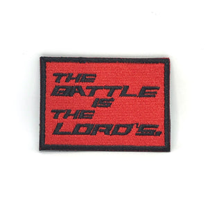 The Battle is the Lord's Verse-It Velcro Morale Patch