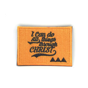 I can do all things through Christ Verse-It Velcro Morale Patch