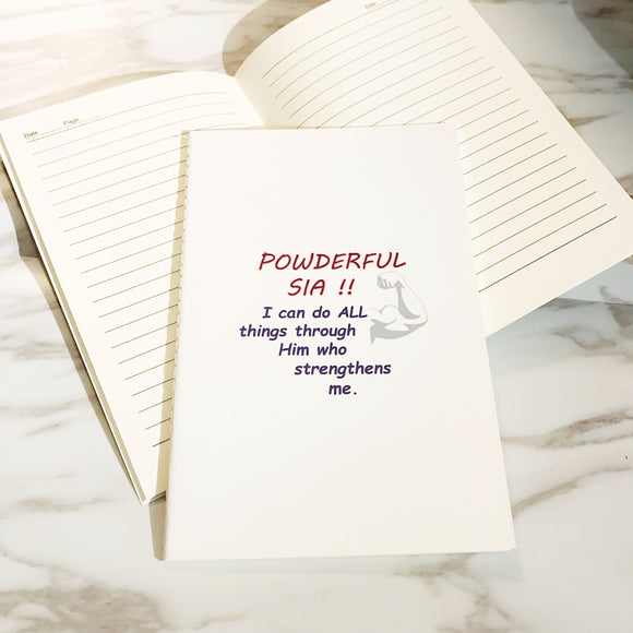 A5 Notebook -  Powderful (I'm a Singaporean Christian series)