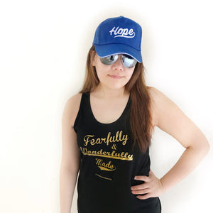 Unisex Black Tank Top - Fearfully & Wonderfully made