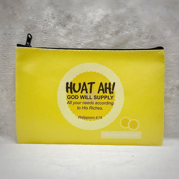 "Huat Ah! Zipped Pouch/ Pencil Case - ""I'm a Singaporean Christian Lah!"" series"