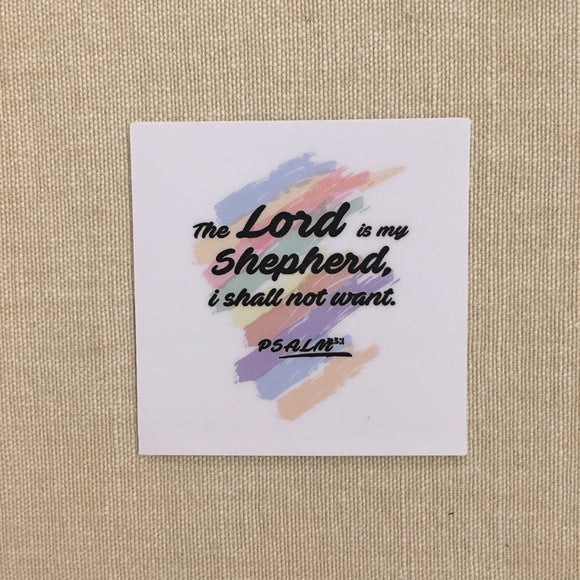 Sticker - The Lord is my shepherd 54x54mm