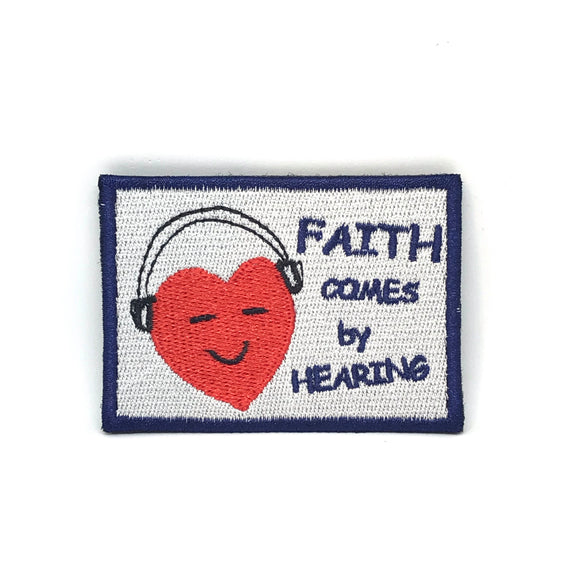 Faith comes by Hearing Verse-It Velcro Morale Patch