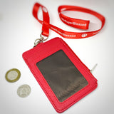 I am FearFully & Wonderfully Made Rainbow Red Zipped Cardholder Coin Pouch lanyard set